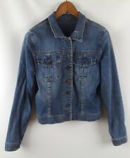Kut From The Kloth Denim Jean Jacket Med Wash Distressed Women's Size XL