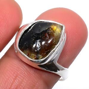Bi Colour Tourmaline Gemstone 925 Silver Handmade Jewelry Ring s.9 T277
