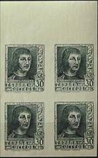 España 1938. Fernando el Catolico. Variedad Edifil 844Aecb bloque de 4. MNH. **.