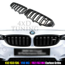 For BMW 4 Series F32 F33 F36 F80 M3 F82 F83 M4 Carbon Fiber Front Grille 2014+