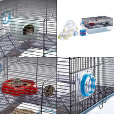 Favola Hamster Cage Includes Free Water Bottle, Exercise Wheel, Food Dish