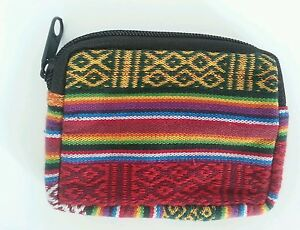 TP3 TIBETAN PURSE NEPAL: Handcrafted Cute Lined Zip Coin Cash Cotton Bag Gift