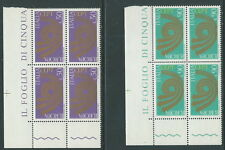 1973 ITALIA EUROPA QUARTINA MNH ** - QQ2