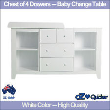 Baby Change Table Nursery Dresser Chest Storage 4 Drawers Cabinet Furniture