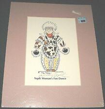 1996 Native Alaskan Artist Willy Topkok Yupik Woman's Fan Dance Print Signed