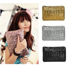 Women Sequins Dazzling Glitter Sparkling Clutch Purse Bag Evening Party Handbag