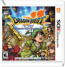 3DS Dragon Quest VII Fragments of the Forgotten Past DQ Nintendo RPG Games