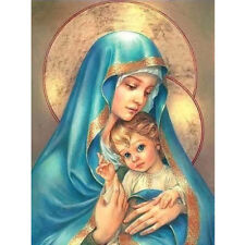1set virgin and child mosaic cross stitch diamond painting embroidery Religious~