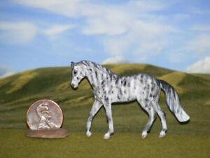 OOAK Breyer cm Custom Horse Mini Whinnies  x D. Williams Gorgeous Gray Brindle!