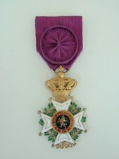 BELGIUM ORDER OF LEOPOLD OFFICER GRADE. MADE IN GOLD! RARE! VF+