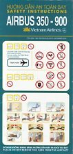 VIETNAM AIRLINES - AIRBUS A350-900 - 09/2019 - SAFETY CARD - CONSIGNE SECURITE