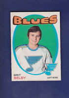 Brit Selby 1971-72 O-PEE-CHEE OPC Hockey #226 (EXMT) St. Louis Blues