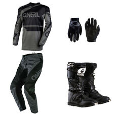 ONeal Element Black motocross off-road dirt bike - Jersey Pants Gloves Boots set