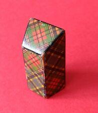 Mauchline Tartan Ware McBeth Pattern Sloping Needle Packet Box.