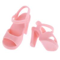 Handmade Plastic Doll High Heel Shoes for 1/4 BJD Dolls DIY Dress up Pink