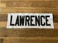 LAWRENCE Game Used Worn Ottawa Senators White Jersey Nameplate