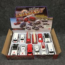 (12) Diecast Metal & Plastic Emergency Rescue Vehicles SET Pull Back Action NEW