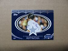 "2008 Topps Update #AS-MH Matt Holliday ""All-Star Stitches"" Colorado Rockies"