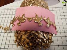 2m - Gold Dove -Trimming,Appliques,Wedding, Lace Ribbon