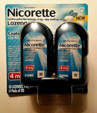 Nicorette Coated Nicotine Lozenges 4mg Ice Mint - 80 Count Exp. 2022