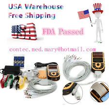 Handheld Portable ECG machine Digital One Channel 12-leads EKG+ PC Software,FDA
