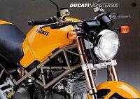 Ducati Monster 900 Prospekt I GB F D E J 1995 brochure prospectus brosjyre moto