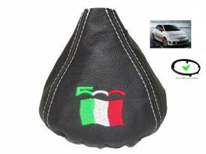 Soufflet Levier De Vitesse Pour Fiat 500 Abarth 07+ Cuir 500 Italien Flag Cadre