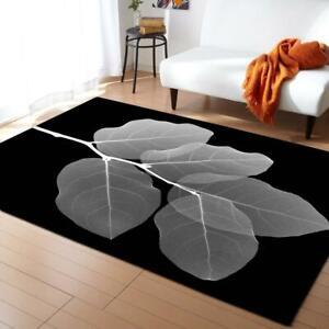 Large 3D Carpets Green Leaf Vein Rug Bedroom Kids Room Play Mat Area Rugs Carpet