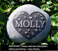 Engraved Pet memorial stone personalised cat dog animal memorial grave marker