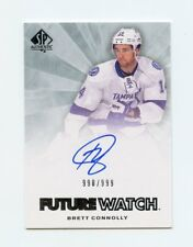 11/12 SP AUTHENTIC FUTURE WATCH ROOKIE RC AUTO #240 BRETT CONNOLLY 990/999 58355