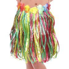 Girls Boys Childs Hula Lei Hawaiian Skirt Festival Colourful Summer Carnival