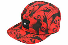 HUF - THE GFE 5 PANEL CAP - RED - AUTHENTIC - IMPORTED FROM USA