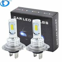H7 LED Headlight Bulbs Kit High Low Beam 8000K Ice Blue 35W 4000LM Super Bright
