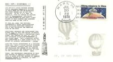 VIKING MISSION TO MARS COMMEMORATIVE STAMP FDC, MARS PA CANCEL 7/20/1978