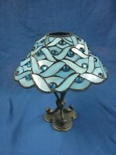Partylite Spring Water Tiffany Style Blue Candle Lamp by Party Lite P7952