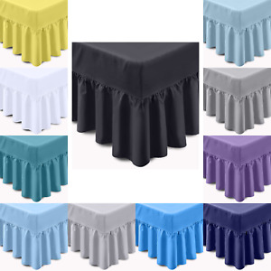 400 THREAD COUNT LUXURY 100% EGYPTIAN COTTON FRILLED VALANCE BED SHEET ALL SIZES