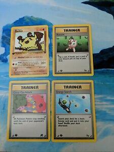 Pokemon 1st Edition Near Mint 4 Card Lot