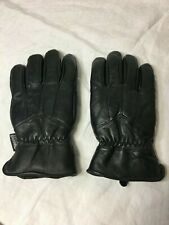 Mens Leather Gloves 40 Gram SIZE Small Thinsulate Insulation BLACK