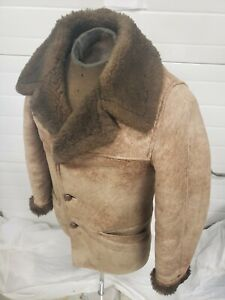 SHEEPSKIN SHEARLING Leather MARLBORO MAN JACKET by WORLD OF SHEEPSKIN 40 Rancher