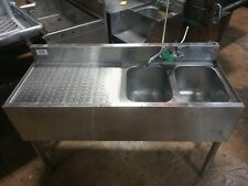 Krown 2 Compartment Bar Sink With Left Drain Board