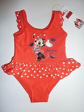 Disney MINNIE MOUSE Cute Little Red Swimming Costume Size 18-24 Months NWT
