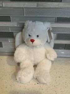 Retired Angelic Greetings Plush White Angel Bear by Ganz Stuffed Toys With Tags