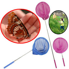 Kids Butterfly Bug Insect Net Extendable Fishing Pole Mesh Stainless Steel Fish