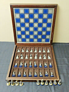 Vintage Franklin Mint Civil War Chess Set (With 10 Extra Pieces)