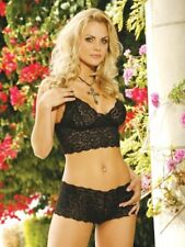 XL EXTRA LARGE BLACK LACE EMPIRE CAMI BRA TOPS STRING STRAPS LOT 2 U.S. MADE NEW
