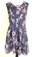 NWT Torrid Dress Size 26 Textured A-Line Summer Sleeveless Floral Purple Dress