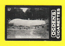 AIR - OGDENS LTD. (TABS) - RARE BALLOON CARD - D. 87 - BALLOON OVER LONDON -1902