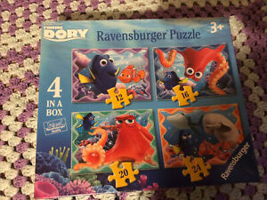 DISNEY FINDING DORY 4 IN A BOX 12/16/20/24 PIECE RAVENSBURGER JIGSAW PUZZLE