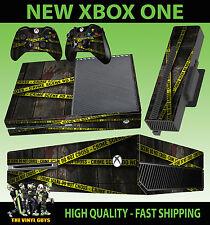 Console XBOX ONE autocollant crime scene police tape main imprimé peau + pad skins