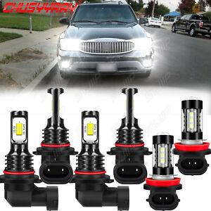 9005 9006 H11 6 uds LED faro + luz antiniebla blanca For Buick Rainier 2004-2007